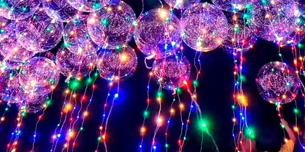 Globos con luces LED